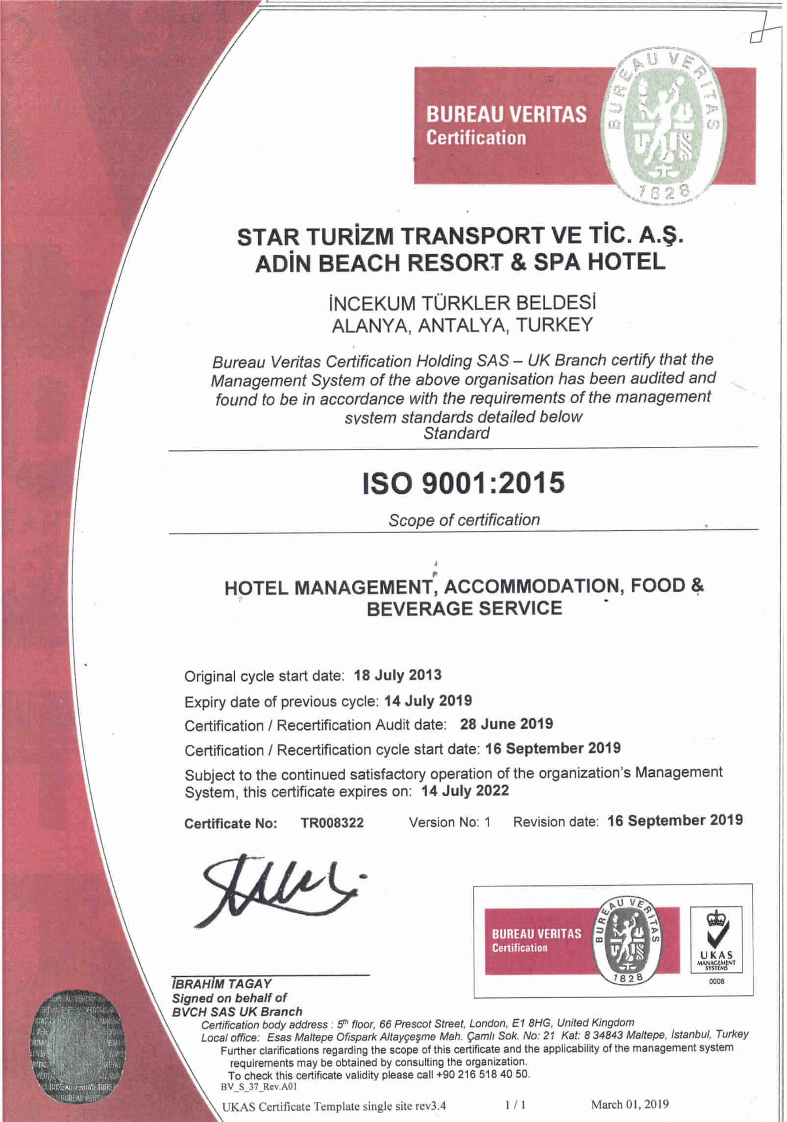 İSO 9001 belge